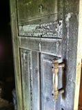 Smoked door of the smoke sauna Royalty Free Stock Image