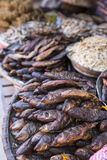 Smoked and dried fish in street of Kathmandu, Nepal Royalty Free Stock Photos