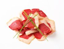 Smoked duck breast slices Royalty Free Stock Photo