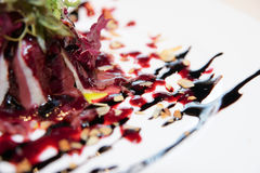 Smoked duck salad royalty free stock photo