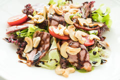 Smoked duck salad Royalty Free Stock Photography