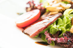 Smoked duck salad Stock Images