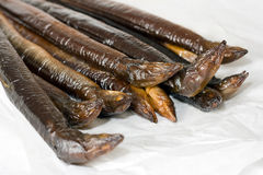 Smoked eel Royalty Free Stock Photos
