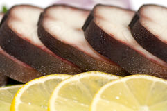 Smoked eel close up Stock Images