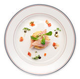 Smoked eel dish on table Stock Photos
