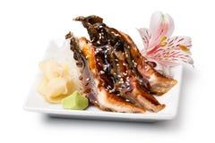 Smoked Eel sashimi Stock Images