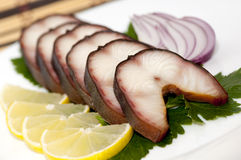 Smoked eel Royalty Free Stock Images