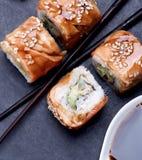 Smoked Eel Sushi Stock Images