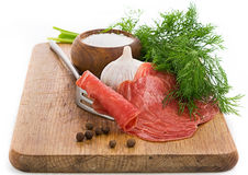 Smoked fillets Royalty Free Stock Photos