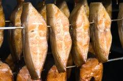 Smoked fish. Fresh, succulent chunks of smoked fish Stock Images
