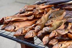 Smoked fish assortment Stock Photography