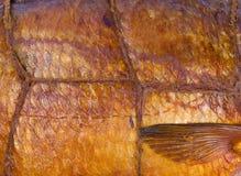 Smoked fish background Stock Photo