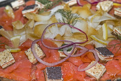 Smoked fish at the cold buffet Stock Images