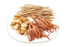 Smoked fish delicacies Stock Photos