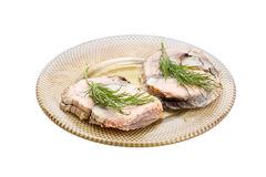 Smoked fish with dill Stock Photography