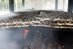 Smoked fish from fishing village food industry at krabi thailand Stock Image