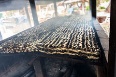 Smoked fish from fishing village food industry at krabi thailand Royalty Free Stock Photos