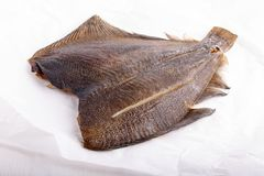 Smoked fish - flounder stock photos