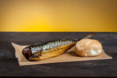 Smoked fish with Royalty Free Stock Photo