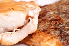 Smoked Fish Hake Fillet Stock Photo
