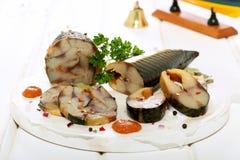 Smoked fish herring Royalty Free Stock Photo