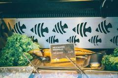 Smoked fish take away in Holland royalty free stock image