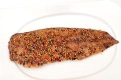 Smoked fish mackerel Stock Images