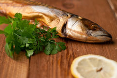 Smoked fish (mackerel) Stock Photography