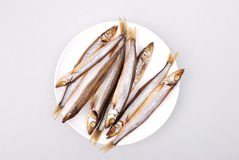 Smoked fish on a plate Stock Photography
