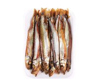 Smoked fish on a plate. Royalty Free Stock Photo