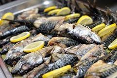 Smoked fish ready for birthday Royalty Free Stock Photo