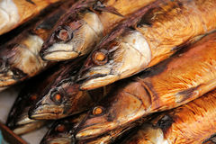 Smoked fish on sale Royalty Free Stock Image