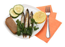 Smoked fishes Stock Photos