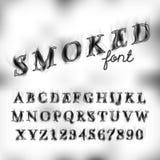 Smoked font set Royalty Free Stock Photography