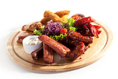 Smoked Foods Royalty Free Stock Photos
