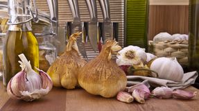 Smoked Garlic Bulbs Stock Image