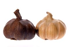 Smoked garlic bulbs Stock Photos