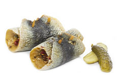 Smoked German Rollmops fish Royalty Free Stock Photo