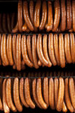 Smoked German Sausages Royalty Free Stock Photography
