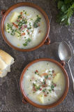 Smoked haddock chowder Royalty Free Stock Photo