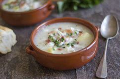 Smoked haddock chowder Royalty Free Stock Photos