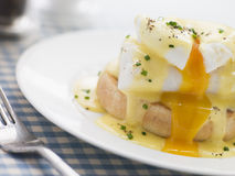 Smoked Haddock Eggs Benedict Royalty Free Stock Photography