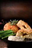 Smoked Haddock Fish Cakes Stock Photo