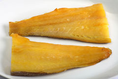 Smoked haddock horizontal Royalty Free Stock Image