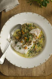Smoked haddock with lentils Stock Photo