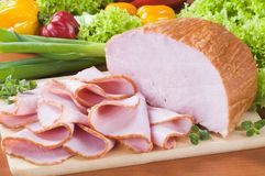Smoked ham Royalty Free Stock Images
