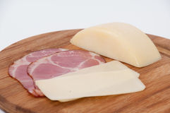 Smoked ham with cheese in one piece Stock Photo