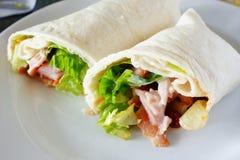 Smoked Ham Chili Wrap Stock Photos