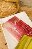 Smoked ham, German cuisine Royalty Free Stock Photos