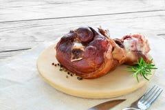 Smoked ham hock cooked Stock Photo